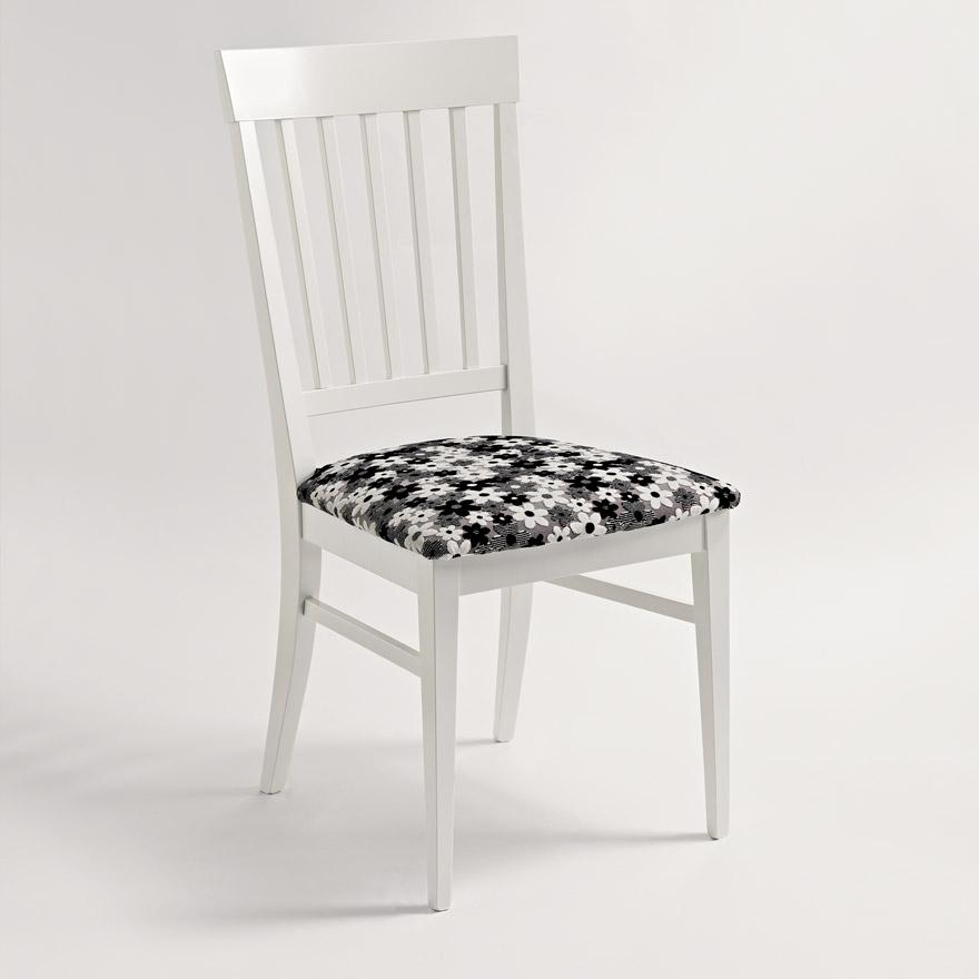 Sedie in legno e tessuto