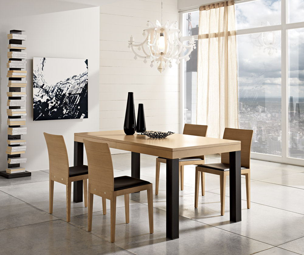 Tavoli moderni tavoli allungabili in faggio benedetti for Tavoli allungabili moderni