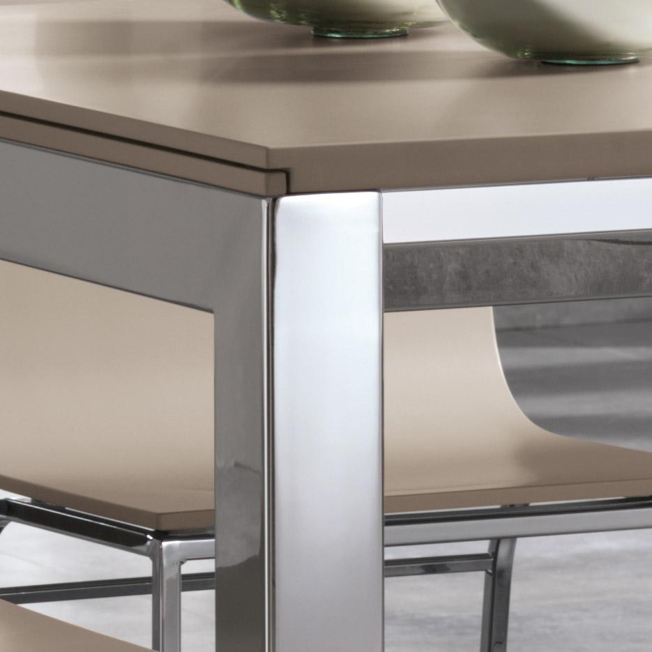 Tavoli moderni tavoli allungabili benedetti srl modello for Tavoli quadrati allungabili moderni